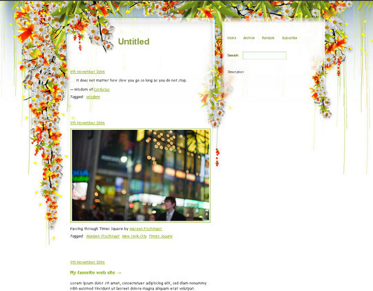 50 Elegant Free Tumblr Themes And Widgets For Blogging Experience 36