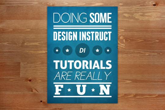 40 High Quality Typographic Poster Design Tutorials 24