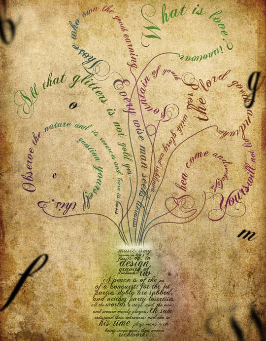 40 High Quality Typographic Poster Design Tutorials 13