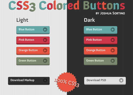18 Effective CSS3 Pressable 3D Buttons To Make Your Website More Interactive 2
