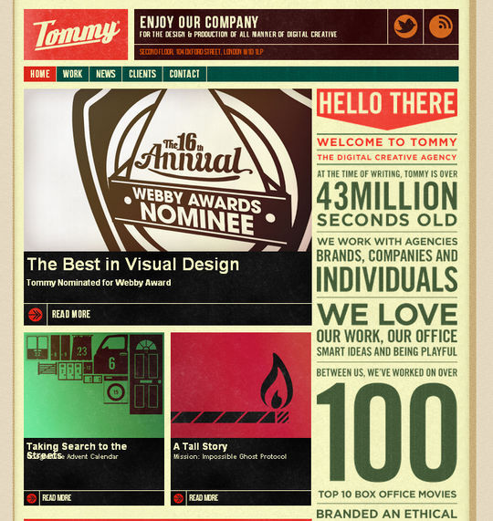 Retro And Vintage: 44 Classy Examples Of Web Designs 10