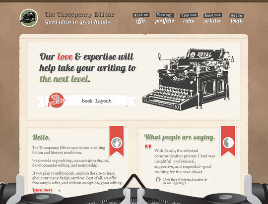 Retro And Vintage: 44 Classy Examples Of Web Designs 20