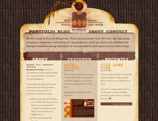 Retro And Vintage: 44 Classy Examples Of Web Designs 4