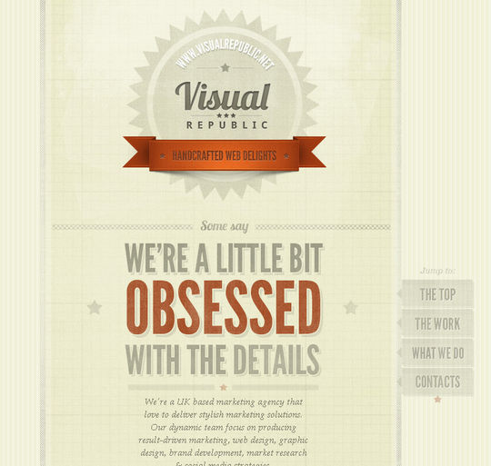 Retro And Vintage: 44 Classy Examples Of Web Designs 23