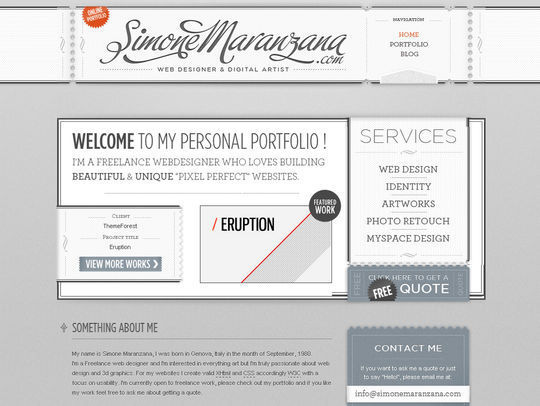 Retro And Vintage: 44 Classy Examples Of Web Designs 26