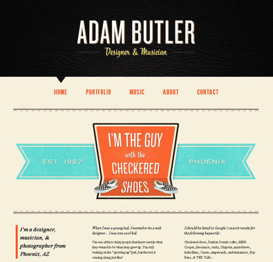 Retro And Vintage: 44 Classy Examples Of Web Designs 27