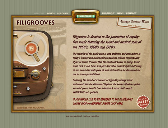 Retro And Vintage: 44 Classy Examples Of Web Designs 11