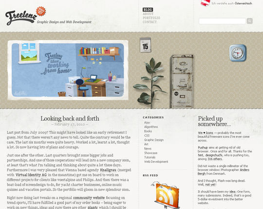 Retro And Vintage: 44 Classy Examples Of Web Designs 31