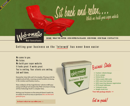 Retro And Vintage: 44 Classy Examples Of Web Designs 33