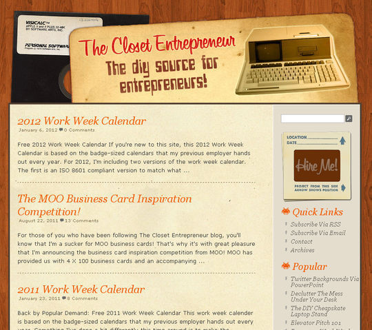 Retro And Vintage: 44 Classy Examples Of Web Designs 34