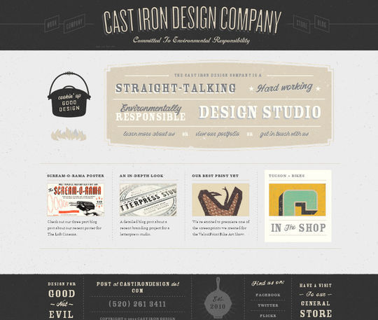 Retro And Vintage: 44 Classy Examples Of Web Designs 36