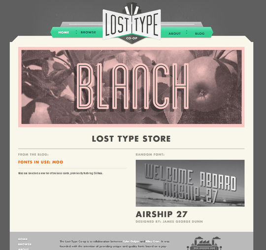 Retro And Vintage: 44 Classy Examples Of Web Designs 41