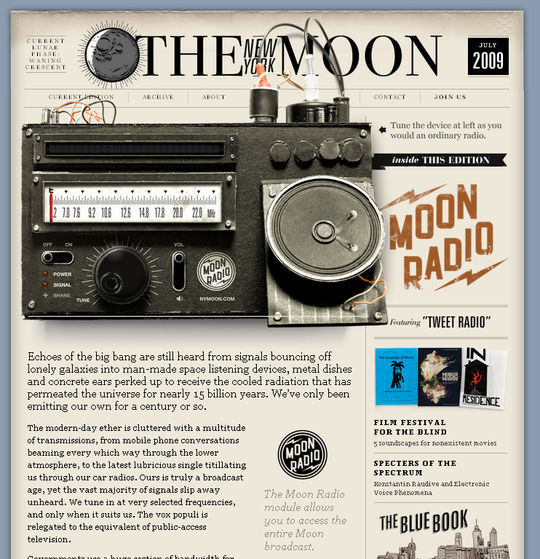 Retro And Vintage: 44 Classy Examples Of Web Designs 42