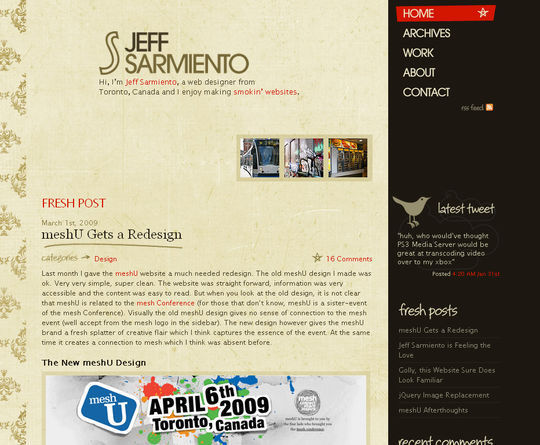 Retro And Vintage: 44 Classy Examples Of Web Designs 43
