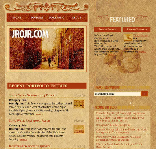 Retro And Vintage: 44 Classy Examples Of Web Designs 44