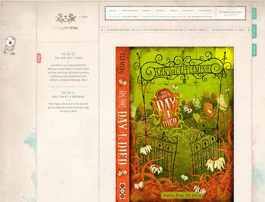 Retro And Vintage: 44 Classy Examples Of Web Designs 6