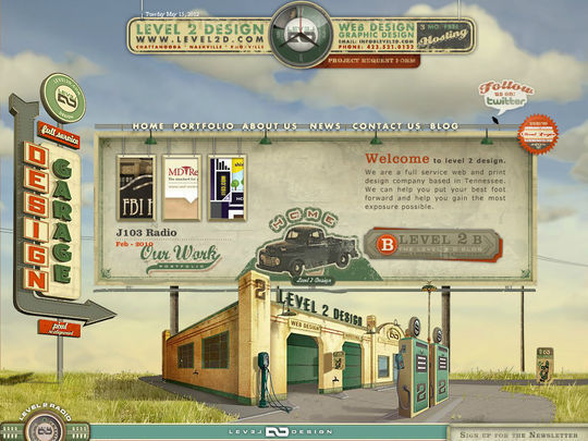 Retro And Vintage: 44 Classy Examples Of Web Designs 14