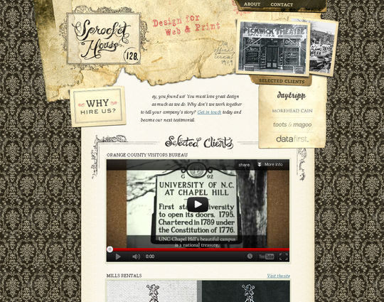 Retro And Vintage: 44 Classy Examples Of Web Designs 15