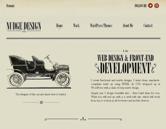 Retro And Vintage: 44 Classy Examples Of Web Designs 16
