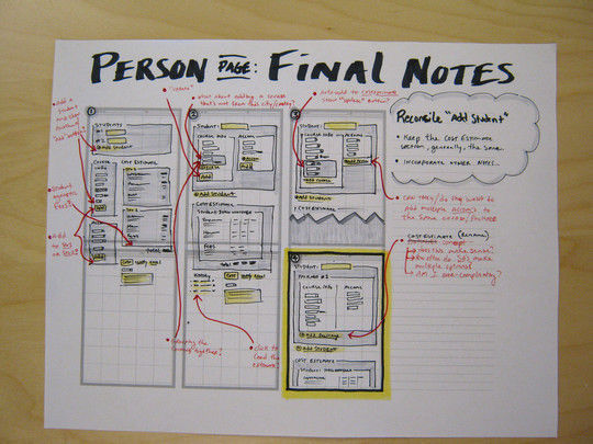 40 Examples Of Web Design Sketches And Wireframes 4