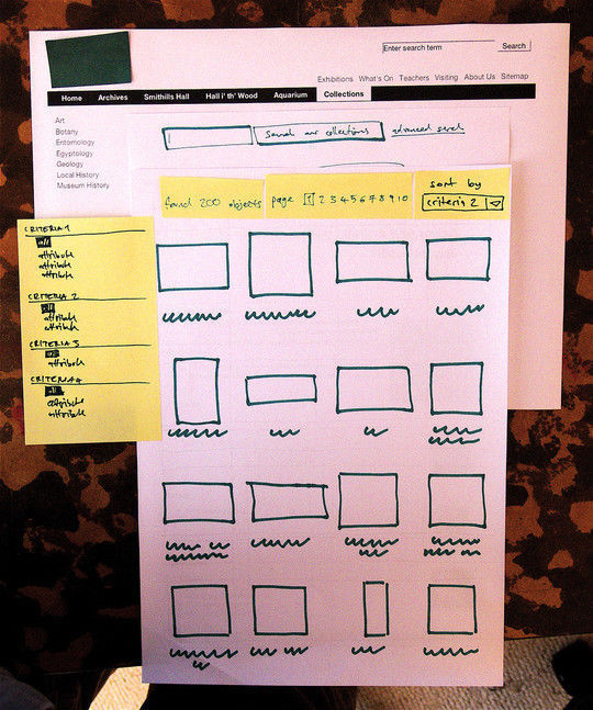 40 Examples Of Web Design Sketches And Wireframes 14