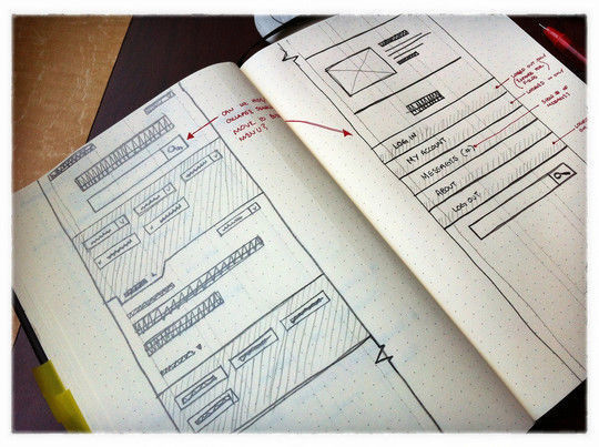 40 Examples Of Web Design Sketches And Wireframes 15