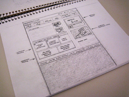40 Examples Of Web Design Sketches And Wireframes 29
