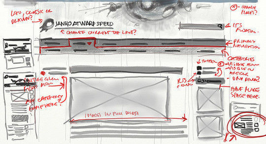 40 Examples Of Web Design Sketches And Wireframes 5