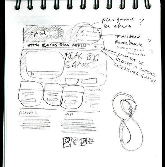 40 Examples Of Web Design Sketches And Wireframes 18