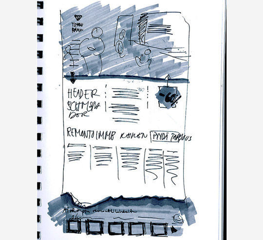 40 Examples Of Web Design Sketches And Wireframes 19