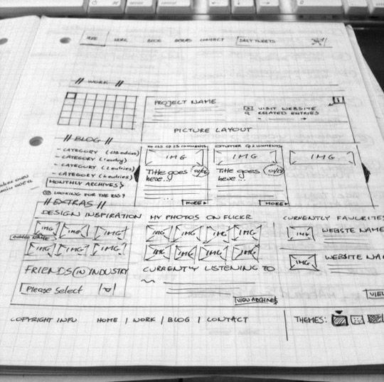 40 Examples Of Web Design Sketches And Wireframes 8