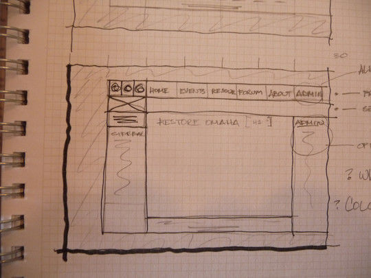 40 Examples Of Web Design Sketches And Wireframes 21
