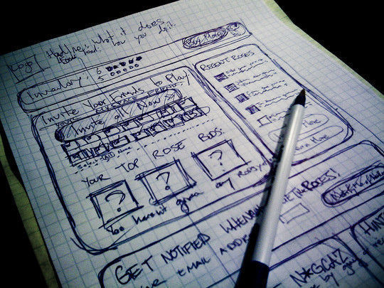 40 Examples Of Web Design Sketches And Wireframes 6