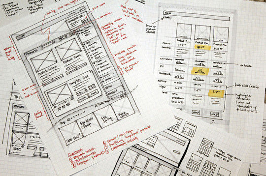 40 Examples Of Web Design Sketches And Wireframes 22