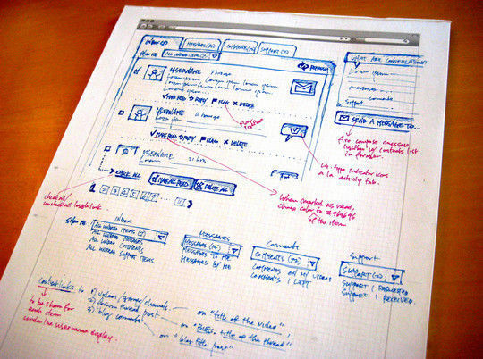 40 Examples Of Web Design Sketches And Wireframes 24