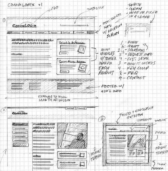 40 Examples Of Web Design Sketches And Wireframes 25