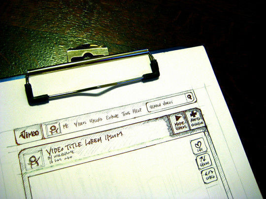 40 Examples Of Web Design Sketches And Wireframes 26