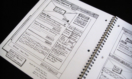 40 Examples Of Web Design Sketches And Wireframes 27