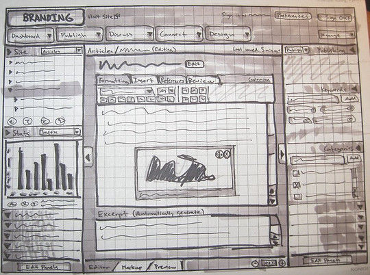 40 Examples Of Web Design Sketches And Wireframes 2