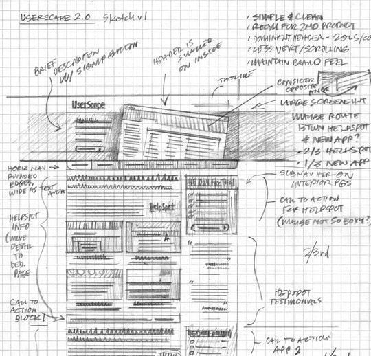 40 Examples Of Web Design Sketches And Wireframes 28