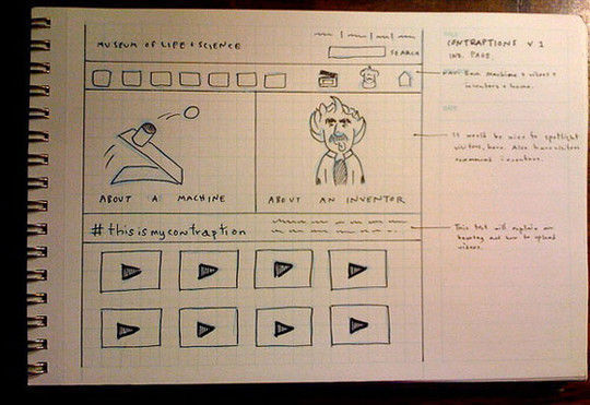 40 Examples Of Web Design Sketches And Wireframes 31