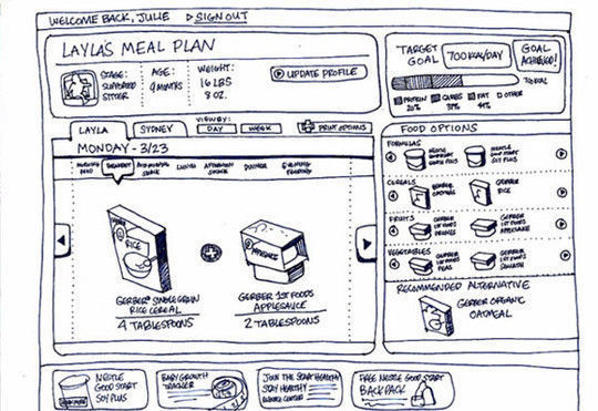 40 Examples Of Web Design Sketches And Wireframes 32