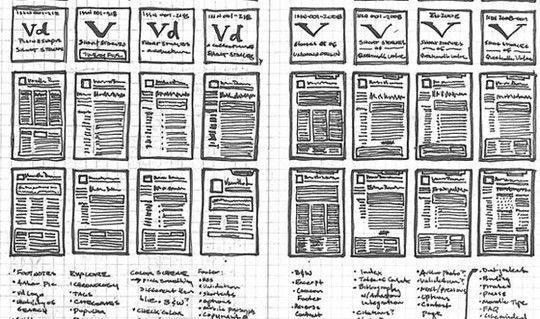 40 Examples Of Web Design Sketches And Wireframes 36