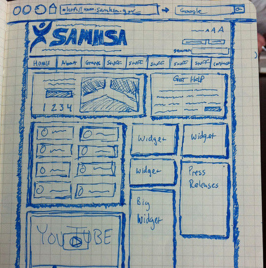 40 Examples Of Web Design Sketches And Wireframes 9