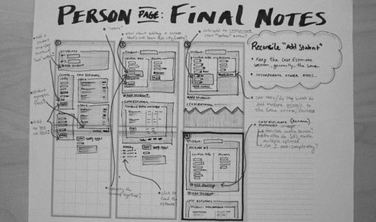 40 Examples Of Web Design Sketches And Wireframes 37