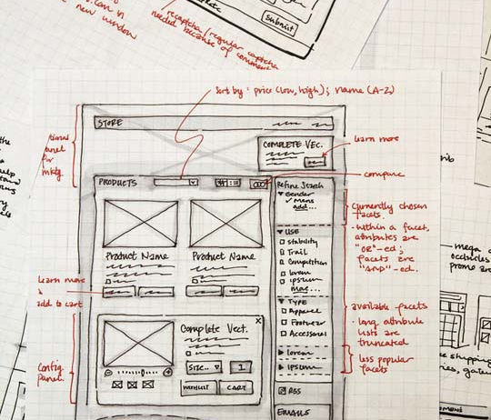 40 Examples Of Web Design Sketches And Wireframes 40