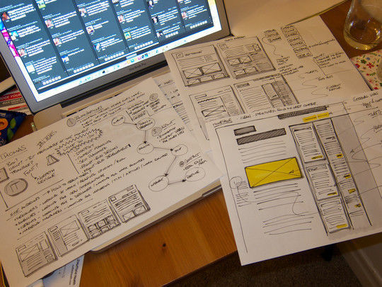 40 Examples Of Web Design Sketches And Wireframes 10