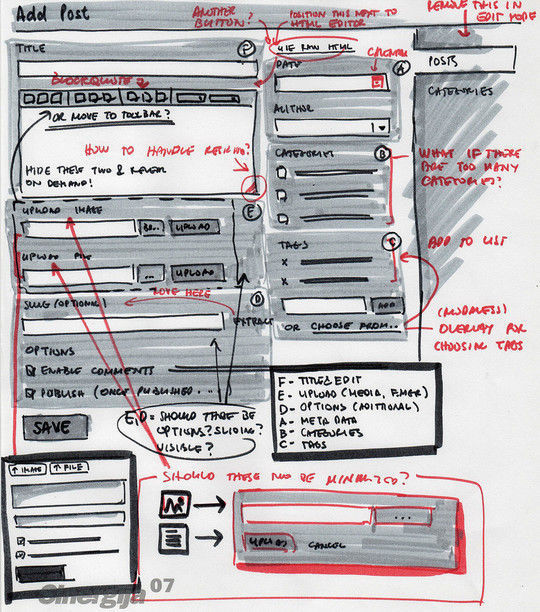 40 Examples Of Web Design Sketches And Wireframes 11