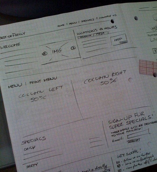 40 Examples Of Web Design Sketches And Wireframes 13