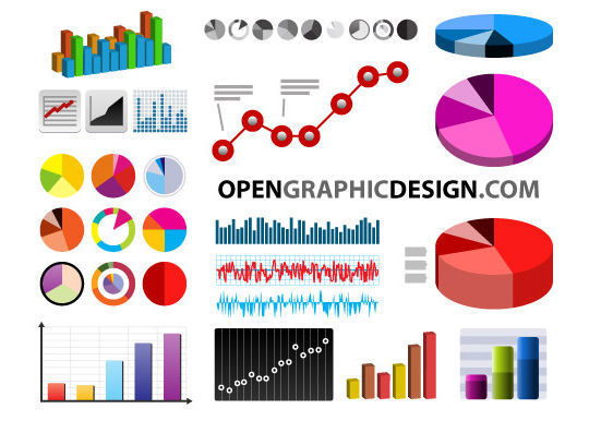 14 Free Business Charts, Graph PSDs And Vector Files 6